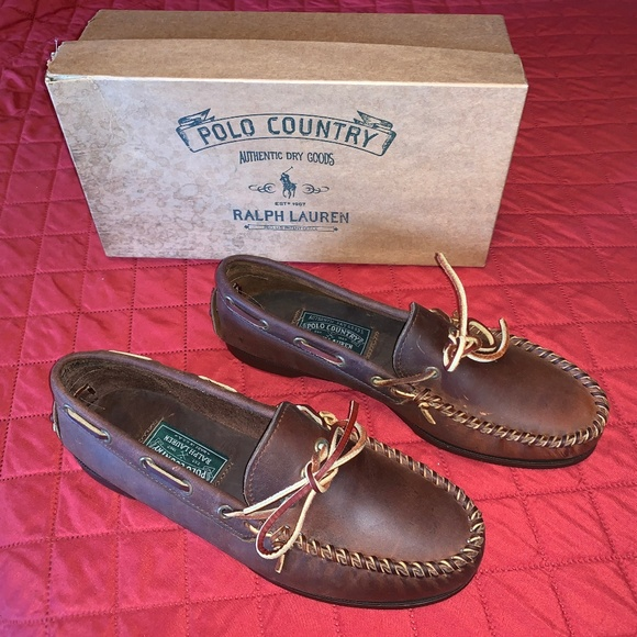 Polo by Ralph Lauren Other - SOLD! RALPH LAUREN Mens Brown Boat Shoes Size 9.5